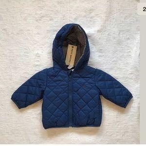 PETIT BATEAU**Blue Baby Boy 3 mo. Hooded Jacket